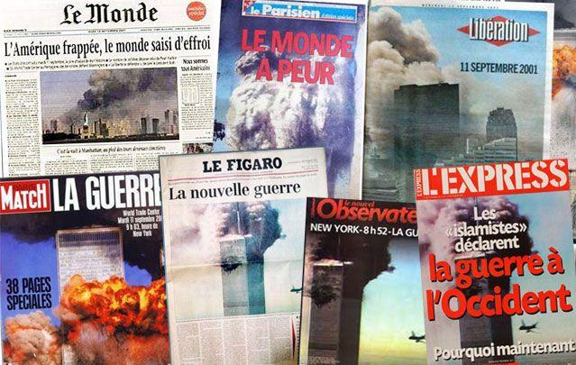 Les unes françaises du 11 sept