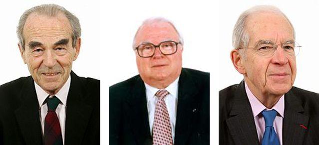 Robert Badinter, Pierre Mauroy et Louis Mermaz