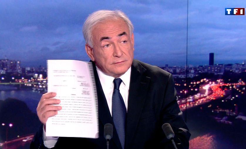 Dominique Strauss-Kahn au 20h de TF1, le 18 septembre 2011
