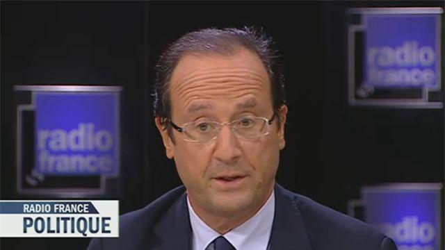 François Hollande sur le plateau de Radio France Politique