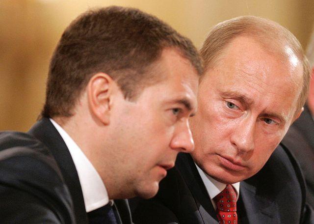 Dmitri Medvedev et Vladimir Poutine