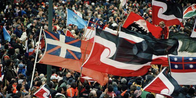 Hikoi (marche de protestation traditionnelle) contre la nationalisation des plages et fonds marins, 2004.