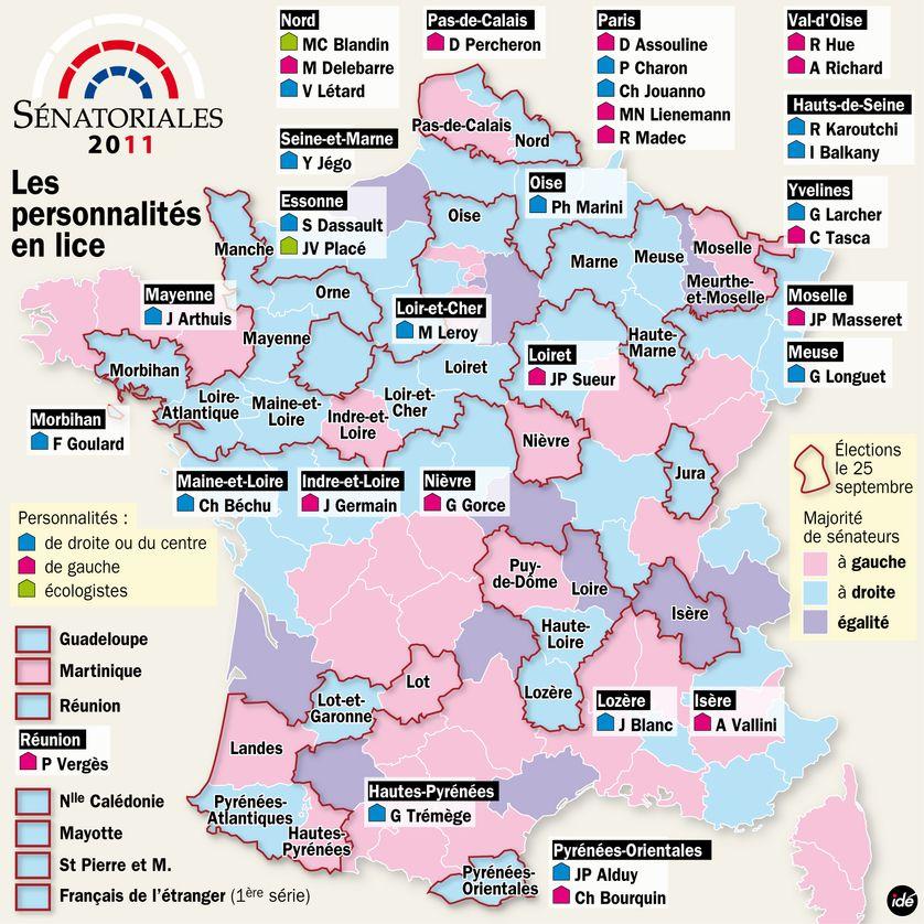 Sénatoriales 2011 : les personnalités en lice