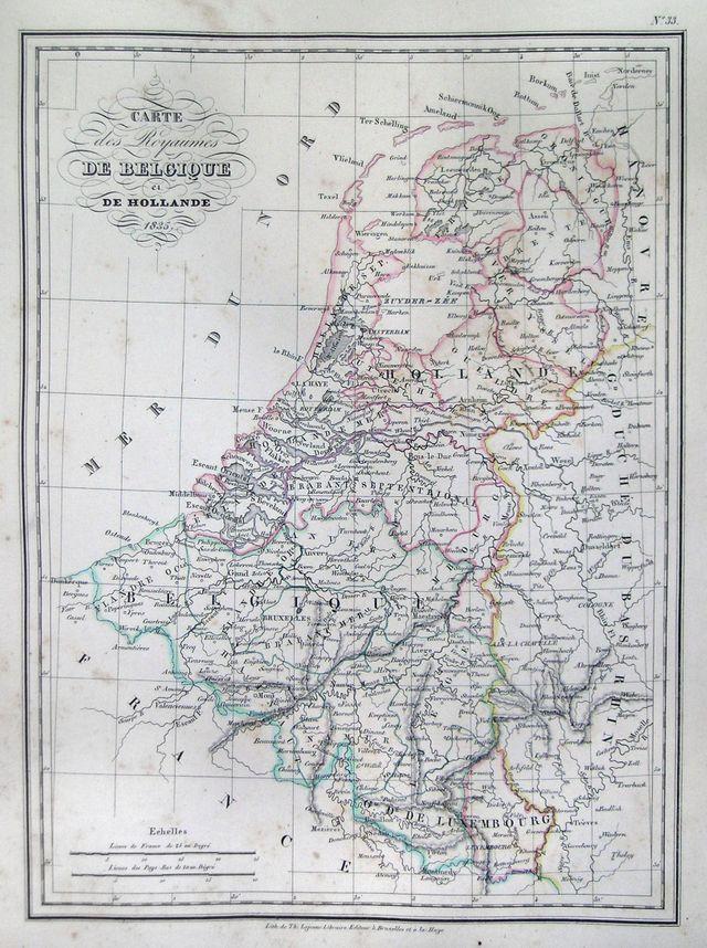 Carte de la Belgique en 1835