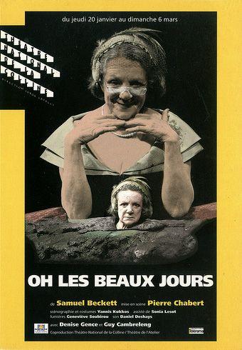 """affiche de """"Oh les beaux jours"""""""