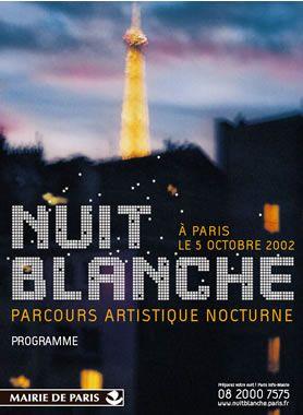 Affiche nuit blanche 2001