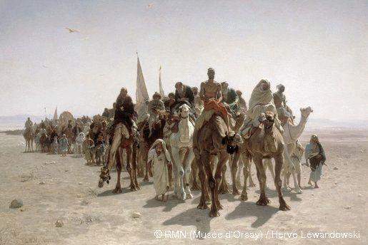 Pélerins allant à La Mecque
