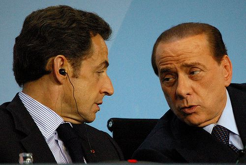 Silvio Berlusconi, Nicolas Sarkozy