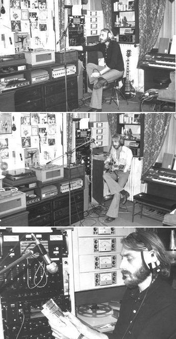 François de Roubaix dans son home studio lors de la composition de la musique de Le Scoumoune