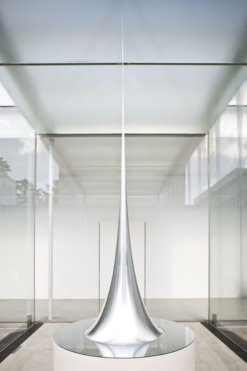 Hiroshi Sugimoto, Conceptual Form 011, 2008 Surface of revolution with constant negative curvature  Aluminum, mirror