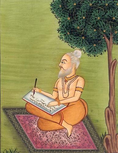 Le poète Valmiki écrivant le Ramayana
