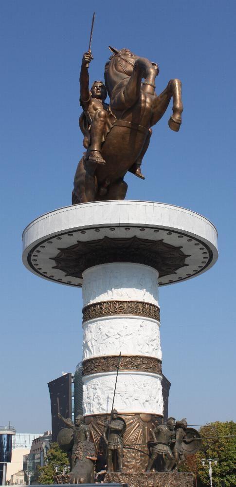 Statue d'Alexandre le Grand à Skopje