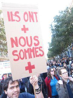 les indignés à Paris