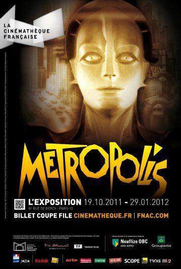 Affiche de l'exposition Metropolis à la Cinémathèque française