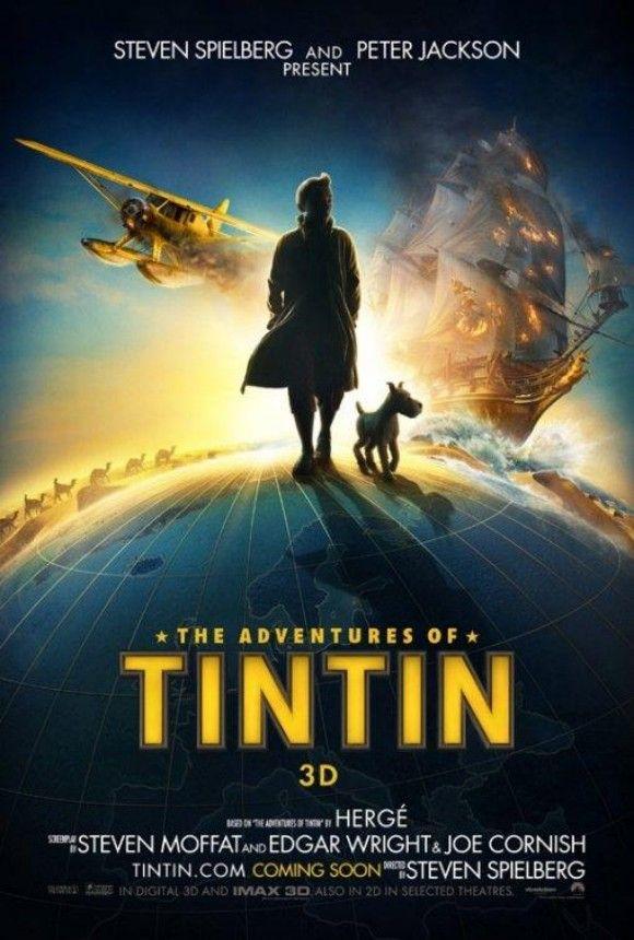 Affiche Tintin et le secret de la licorne