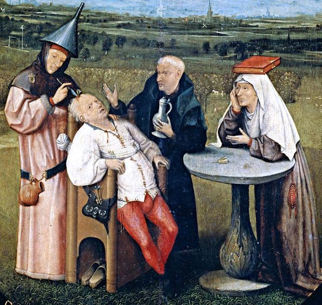L'extraction de la Pierre de folie par Jérôme Bosch