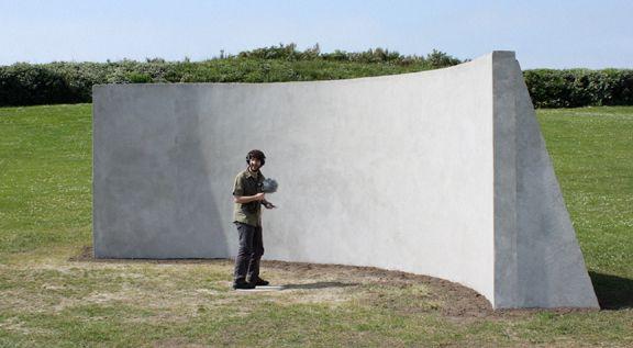 Kerwin Rolland en action pour une installation de Julien Prévieux