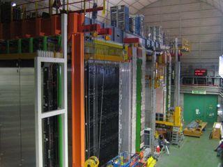 Le détecteur de neutrinos au laboratoire du Gran Sasso en Italie