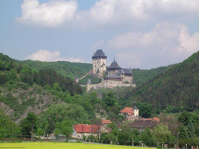 Château Charles IV à Karlstejn en République tchèque