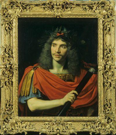 Molière dans le rôle de César (La Mort de Pompée, Corneille) / Nicolas Mignard (I 260)