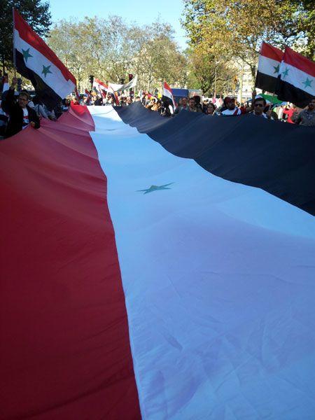 Manifestation de syriens de France