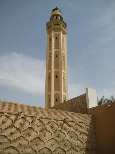 Minaret à Tozeur, en Tunisie