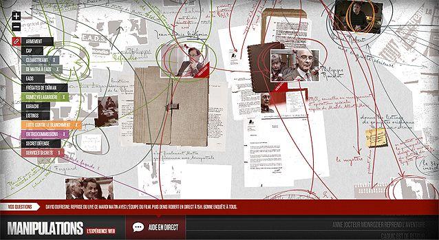 Manipulations, l'expérience web