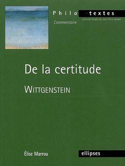 De la certitude, Wittgenstein