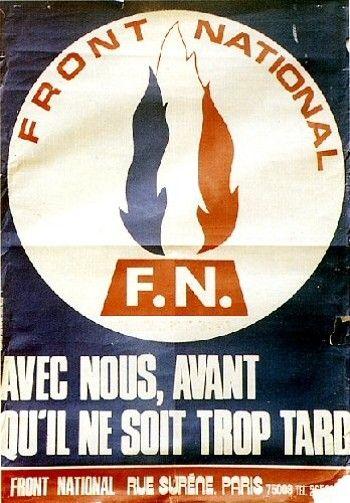 Affiche électorale du Front Ntaional 1972
