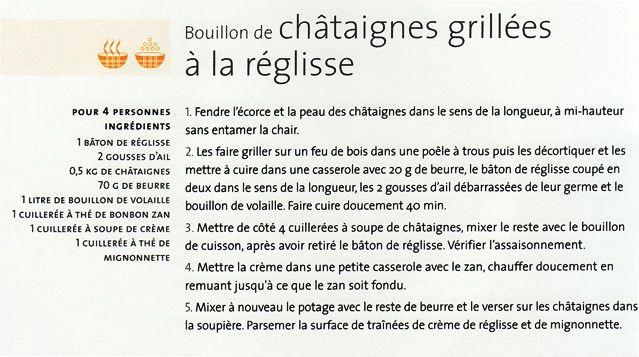 Recette Soupe  Chataigne