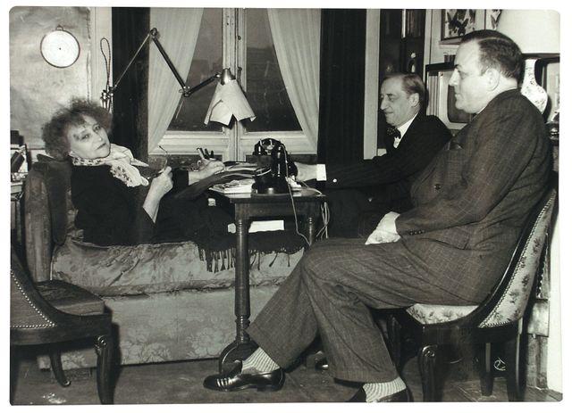 Colette dans son appartement rue du Beaujolais