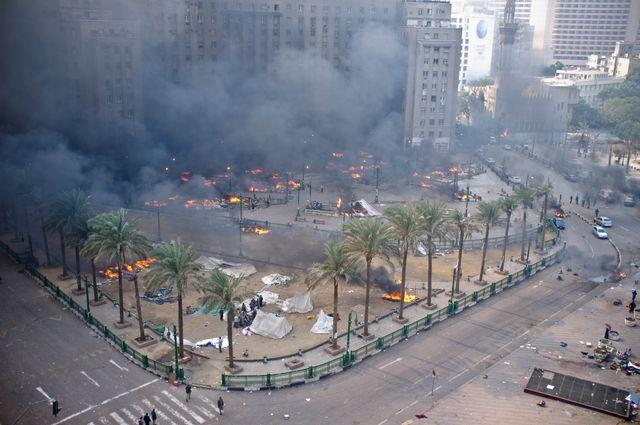 Place Tahrir, samedi 17 décembre, en fin de matinée