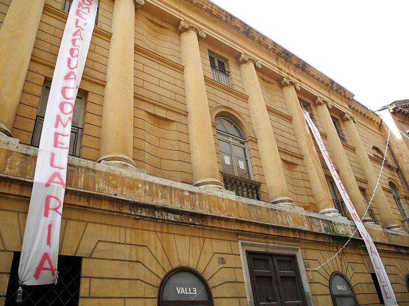 la façade du Teatro Valle