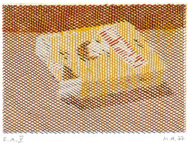 Markus Raetz, Mary Long Eau-forte 3 couleurs, 1977 Dreifarben-Mappe I FNAC / BnF, département des Estampes et de la photographie