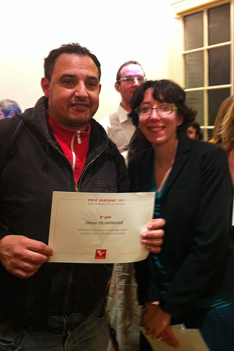 Omar Ouahmane et Mathilde Dehimi, lauréats du Prix Varenne 2011