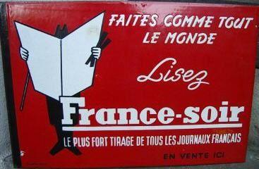 Publicité pour France Soir