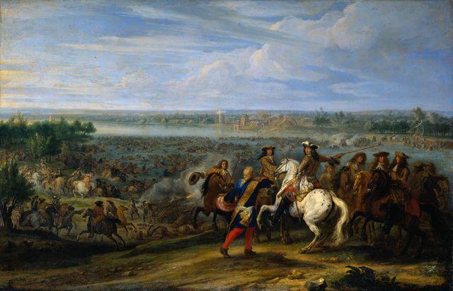 Le passage du Rhin en 1672 par Adam-François Van der Meulen