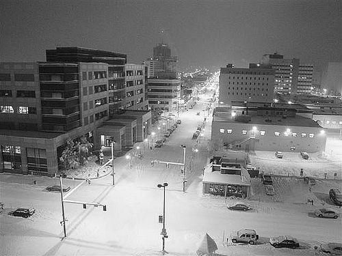 L'hiver à Anchorage dans l'Alaska