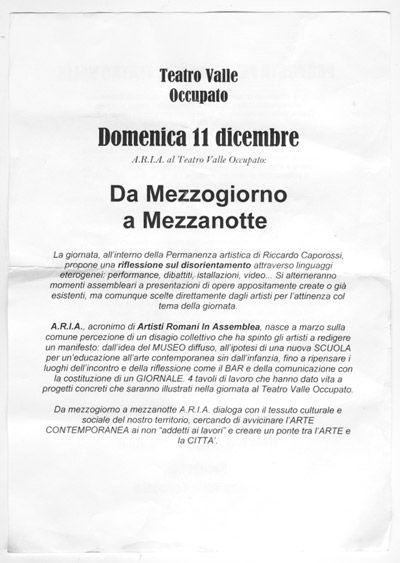 le tract-manifeste du 11 décembre 2011