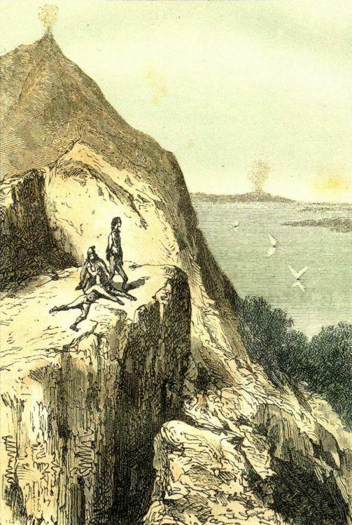 Illustration pour Voyage au centre de la Terre par Edouard Riou - 1864
