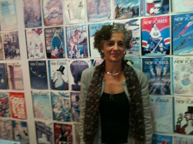 Françoise Mouly dans son bureau à New York