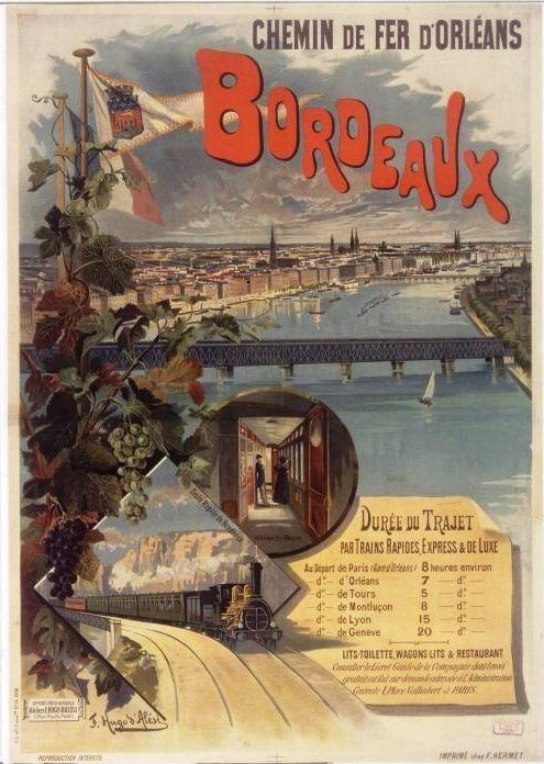 Affiche publicitaire du Chemin de fer d'Orléans - 1897