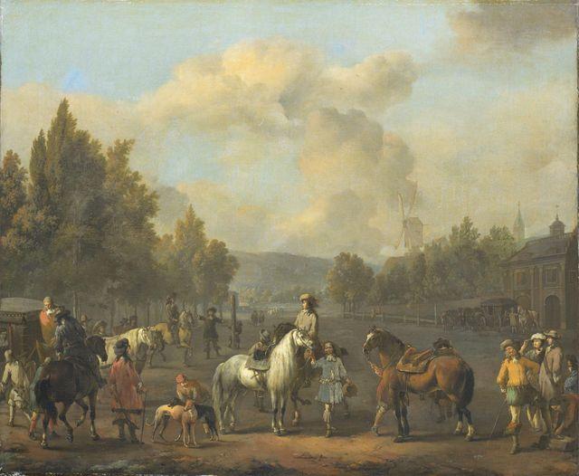 L'école de cavalerie par Johannes Lingelbach