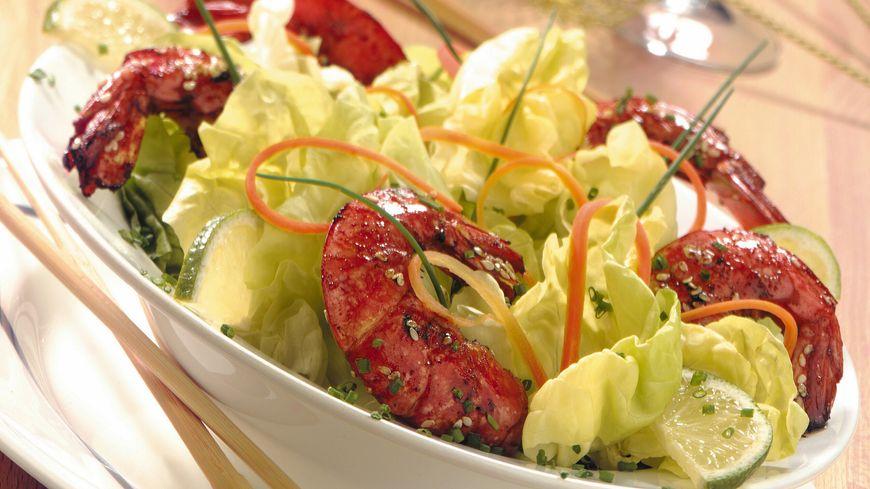 recette-5305-Laitue et crevettes au citron vert