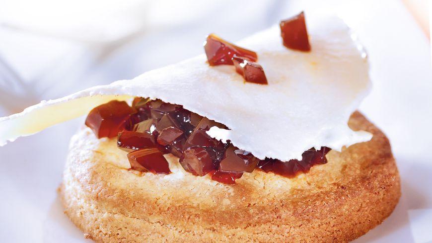 recette-5308-Biscuit citron, gelée café-cardamome et fine feuille de lait en poudre à l'eau de fleur d'oranger