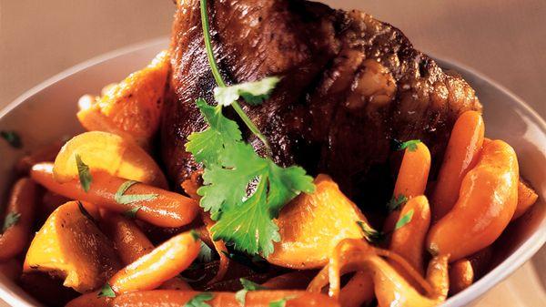 recette-3056-Coeur de veau braisé aux carottes et oranges