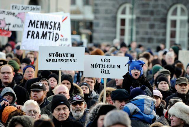 Manif à REYKJAVIK Nov. 2008