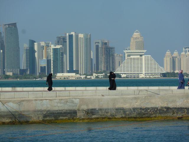 Balade sur la corniche Doha