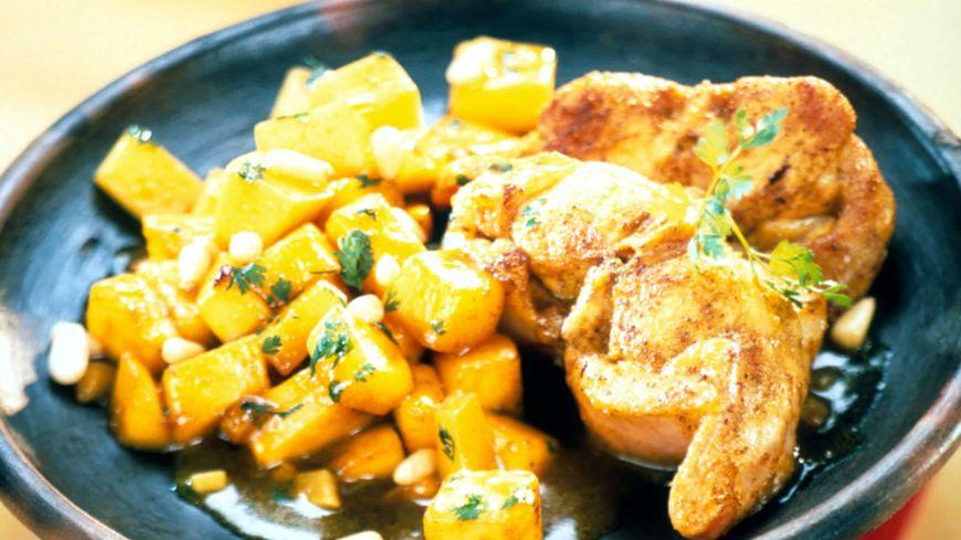 recette-958-Demi-râbles de lapin aux épices et à la mangue