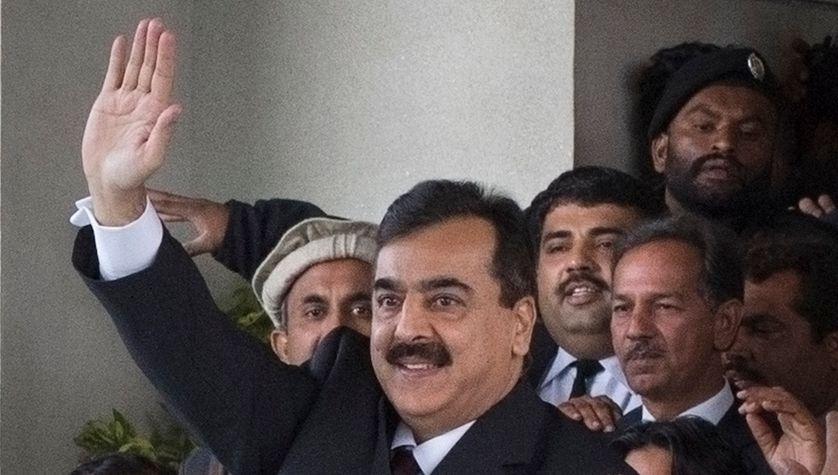Le Premier ministre Yusuf Raza Gilani après son audience devant la Cour suprême. Islamabad 19/01/2012
